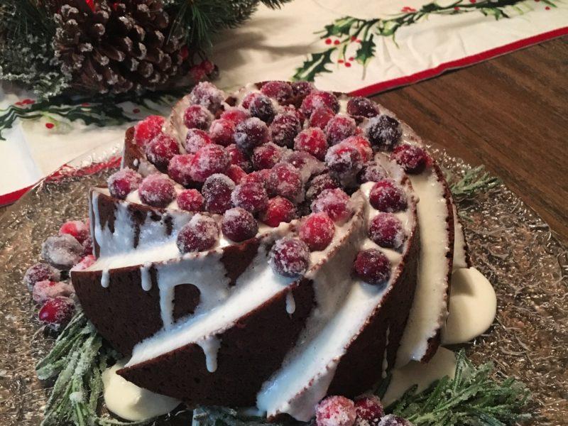 Gingerbread Bundt Cake with Cream Cheese Glaze