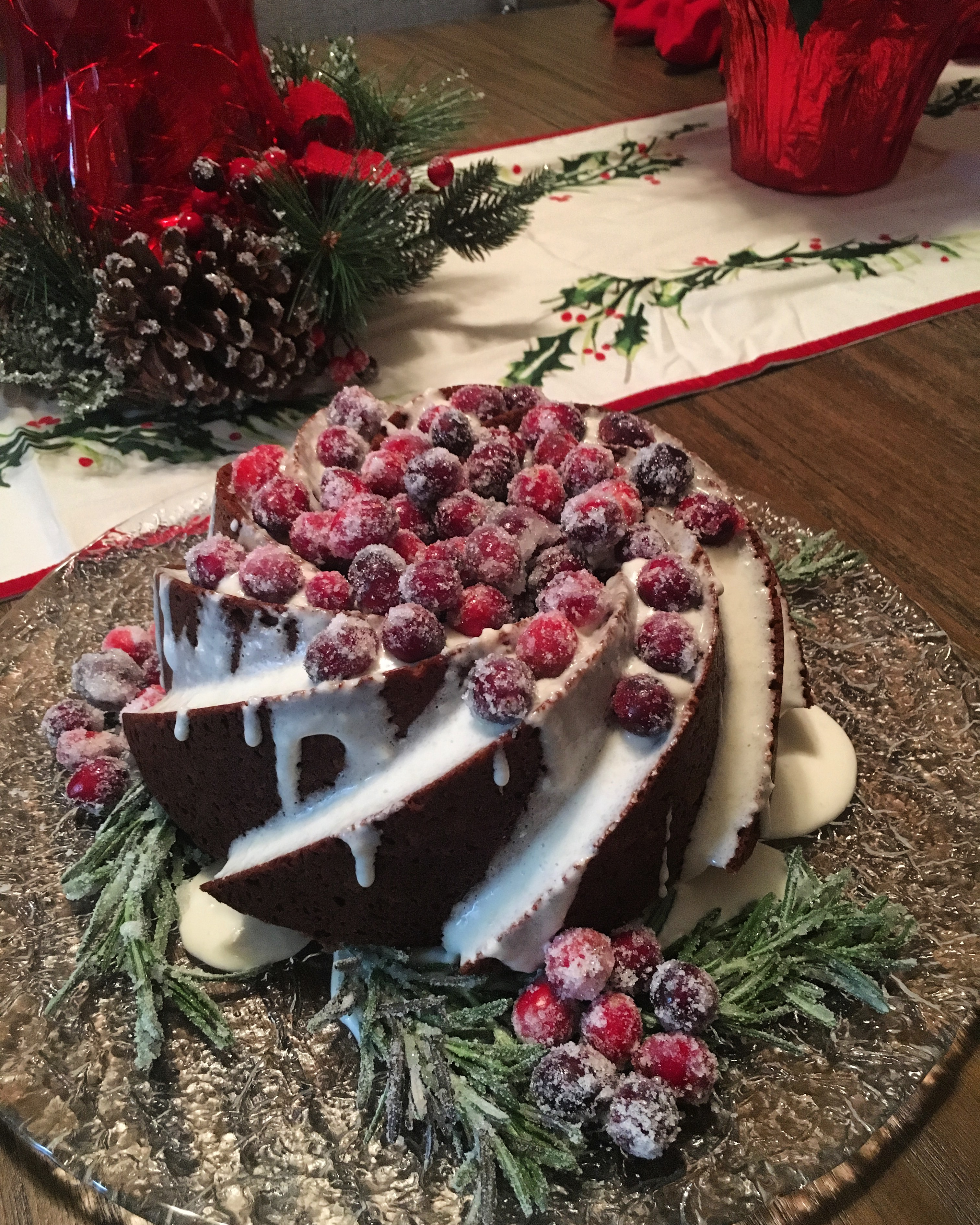Gingerbread Bundt Cake with Cream Cheese Glaze